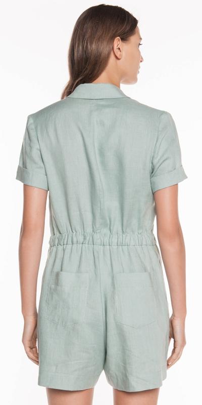 Jumpsuits | Soft Linen Button Front Playsuit