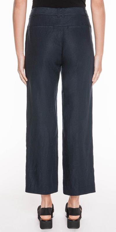 Pants | Linen Cropped Pant