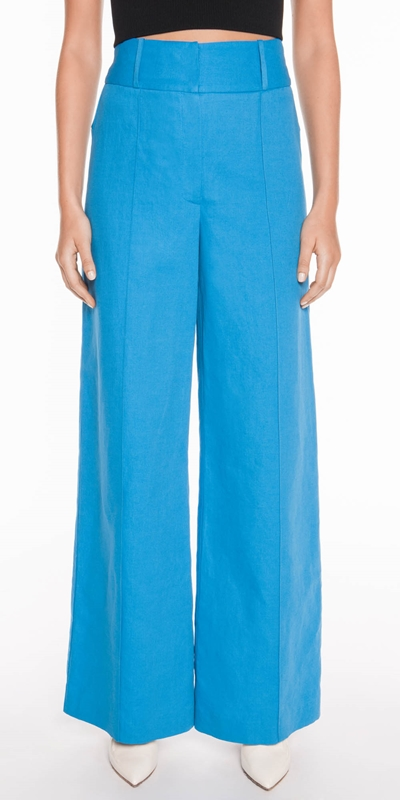 Made in Australia  | Linen Twill Wide Leg Pant