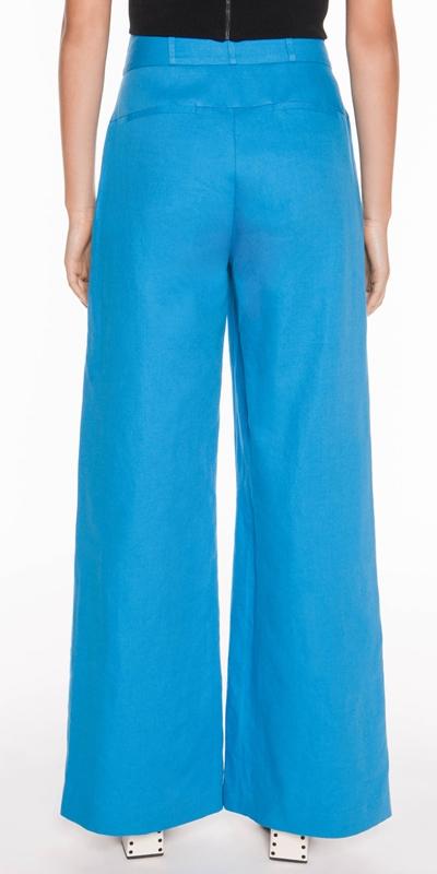 Pants | Linen Twill Wide Leg Pant