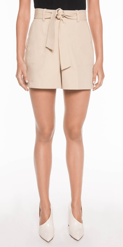 Made in Australia  | Cotton Twill Topstitched Shorts