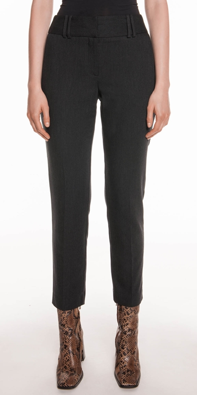 Pants | Charcoal Melange Trousers