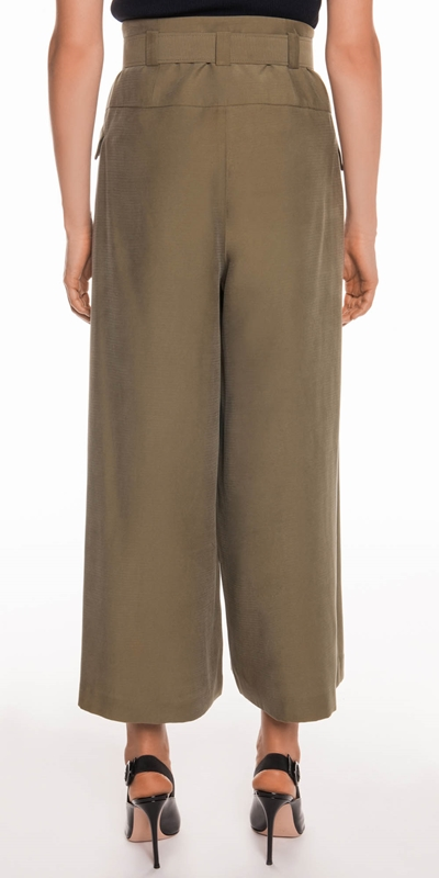 Pants | Drapey Pique Wide Leg Pant