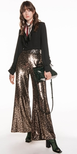 Pants | Leopard Sequin Trouser