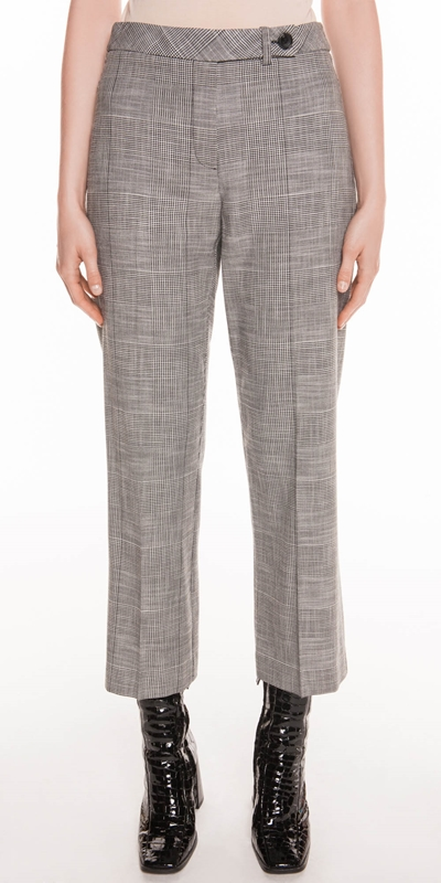Pants | Monochrome Check Trouser