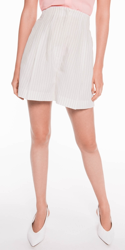 Sale  | High Waisted Linen Blend Shorts