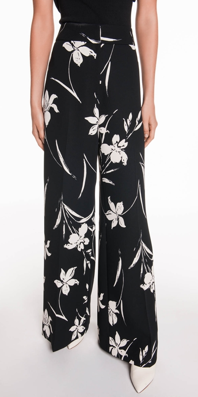 The Party Edit  | Monochrome Floral High Waist Pant