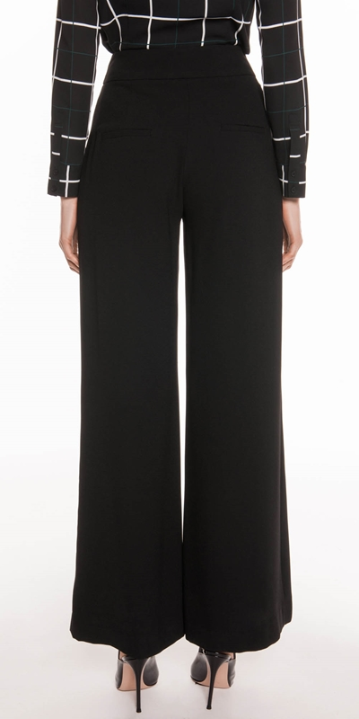 Pants | Satin Back Crepe High Waist Pant