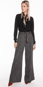 Pants | Brushed Tweed Belted Pant