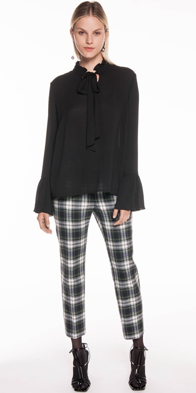 Pants | Forest Tartan Cropped Pant