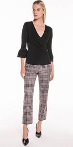 Pants | Charcoal Plaid Trouser