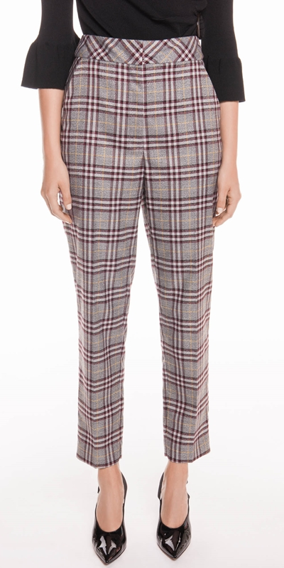 Pants  | Charcoal Plaid Trouser