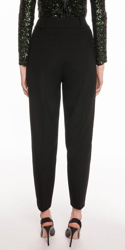 Pants   Black Crepe Tapered Trouser