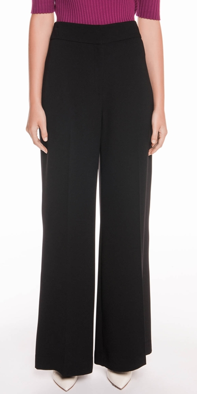 Pants  | Satin Back Crepe High Waisted Pant