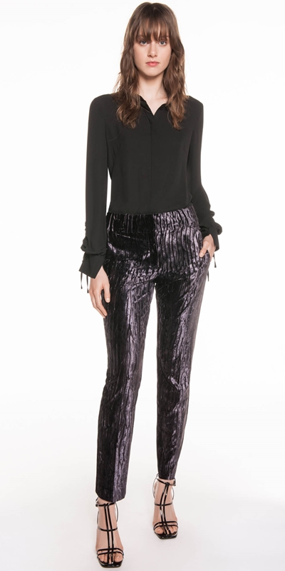 Pants | Metal Mauve Velvet Trouser
