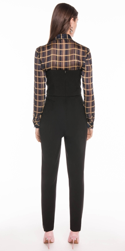 Jumpsuits   Textured Twill Strapless Jumpsuit