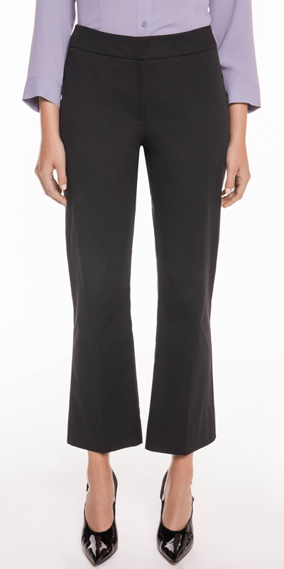 Pants  | Cotton Twill Cropped Flared Pant
