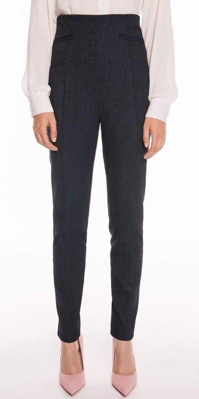 Pants   Textured Ink High Waisted Pant