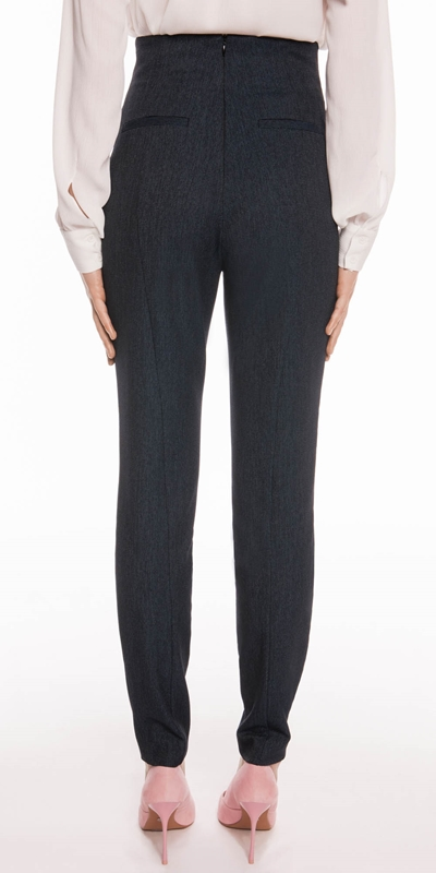 Pants | Textured Ink High Waisted Pant