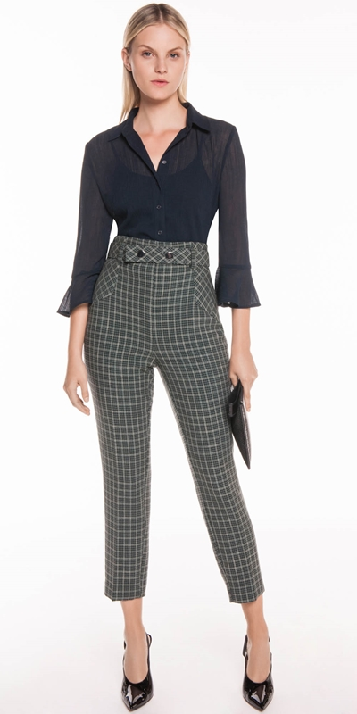 Wear to Work | Mini Tartan Belted Pant