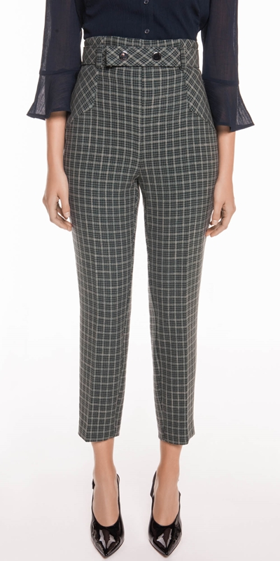 Pants  | Mini Tartan Belted Pant