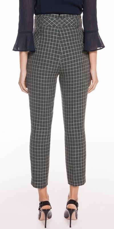 Pants | Mini Tartan Belted Pant