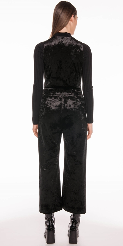 Pants | Crushed Velvet Jumpsuit