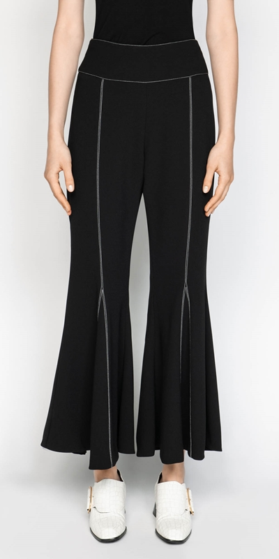 Pants  | Black Crepe Flares