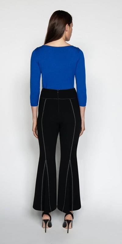 Pants | Black Crepe Flares