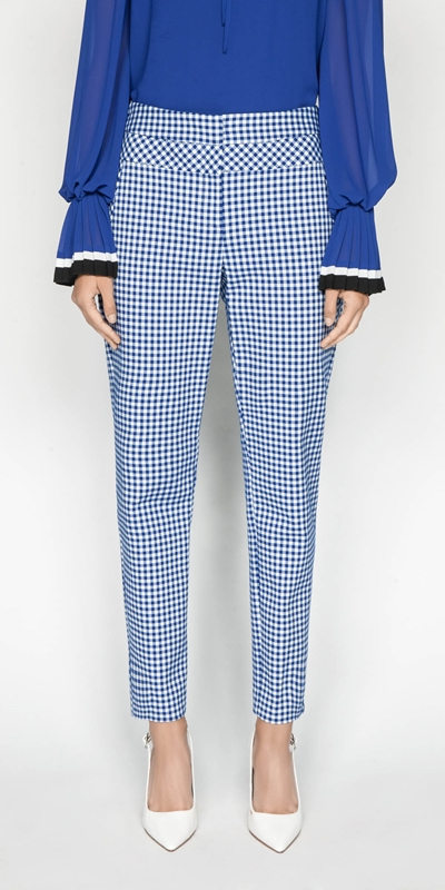 Wear to Work  | Gingham Skinny Leg Pant