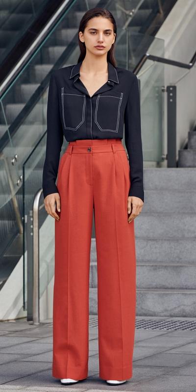 Pants | Linen Blend Paperbag Pant