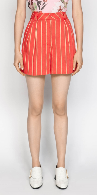 Pants  | Gold Stripe Short