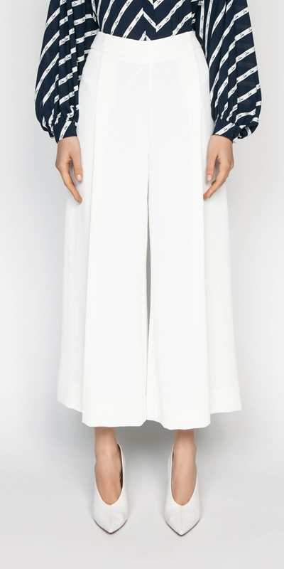 Made in Australia  | Ivory Wide Leg Pant