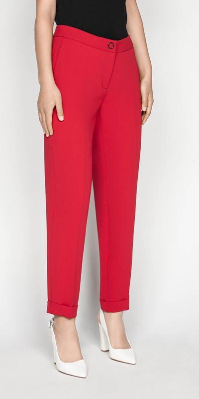 Pants  | Crepe Cuffed Pant