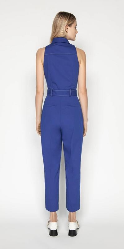 Jumpsuits | Cobalt Zip Front Jumpsuit