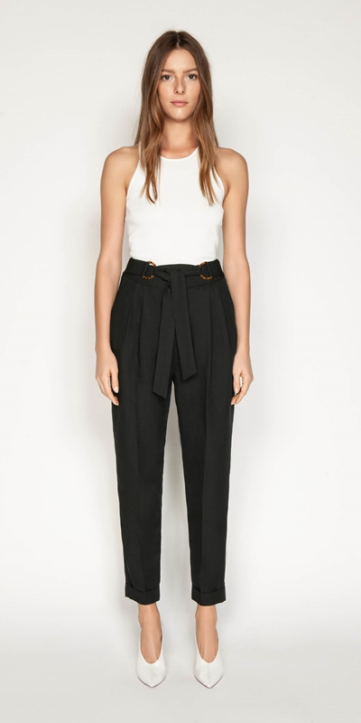 Pants | Belted Tapered Pant