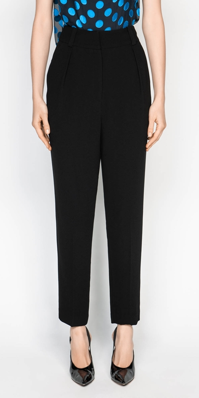 Pants  | Crepe Tapered Trouser