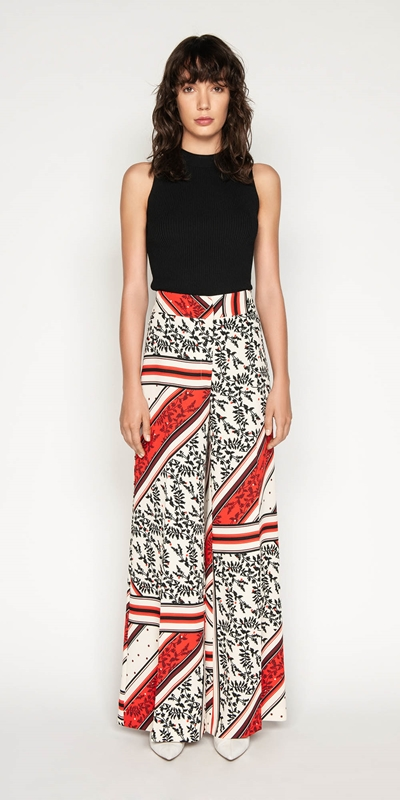 Made in Australia | Scarf Print Wide Leg Pant