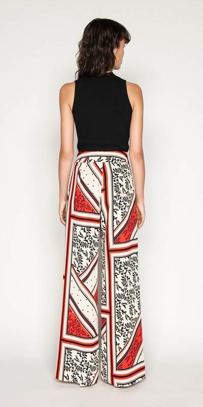 Pants | Scarf Print Wide Leg Pant