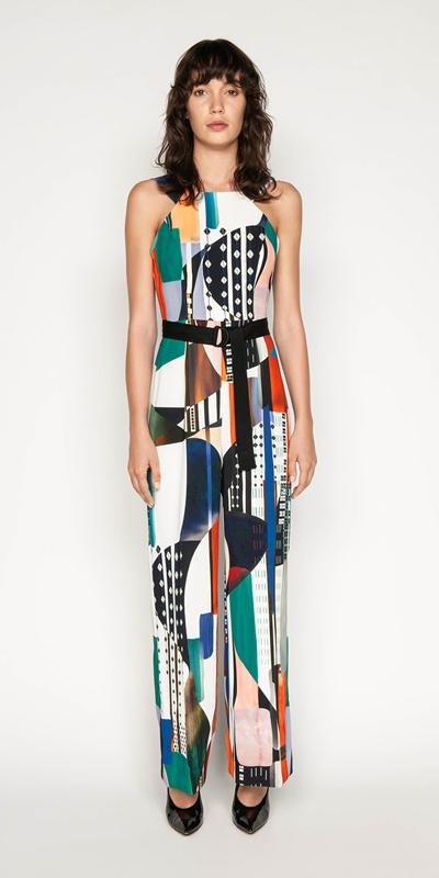 Jumpsuits | Kandinsky Print Jumpsuit