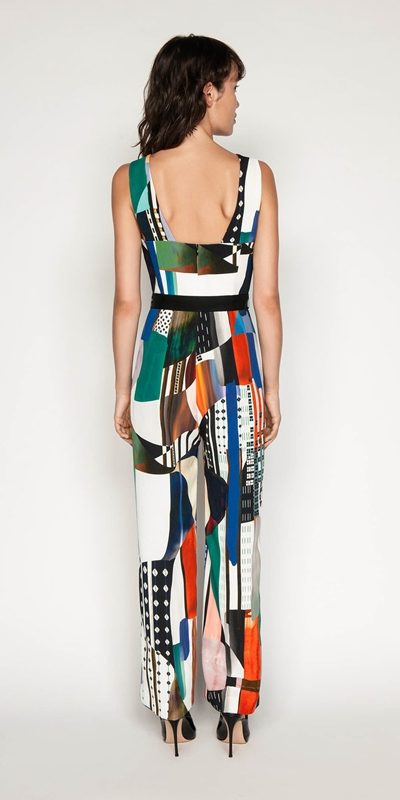 Pants | Kandinsky Print Jumpsuit