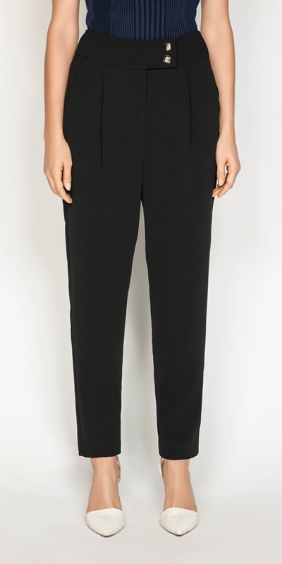 Pants | Crepe Tapered Pant
