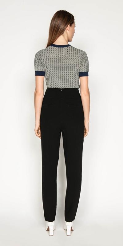 Pants | Crepe High Waisted Pant