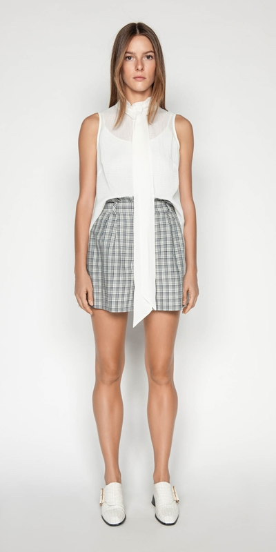 Pants | Linen Check Short