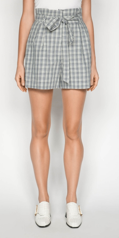 Pants | Linen Check Short