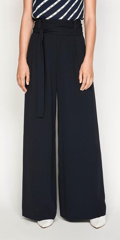 Pants  | Front Tuck Wide Leg Pant