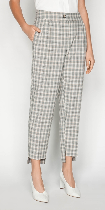 Pants  | Houndstooth Tapered Pant