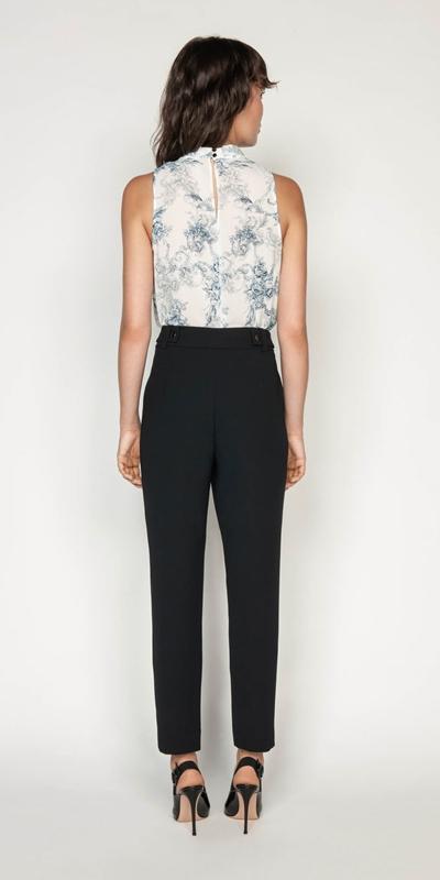Pants | Crepe Tapered Pant