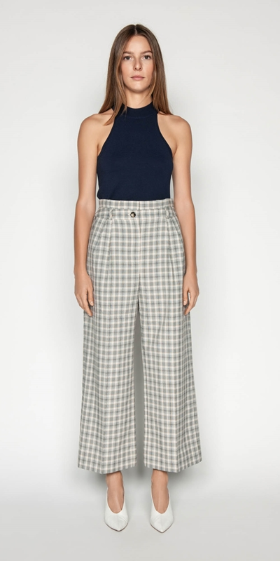 Made in Australia | Houndstooth Paper Bag Pant