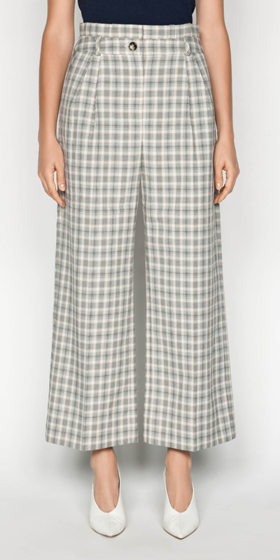 Pants  | Houndstooth Paper Bag Pant
